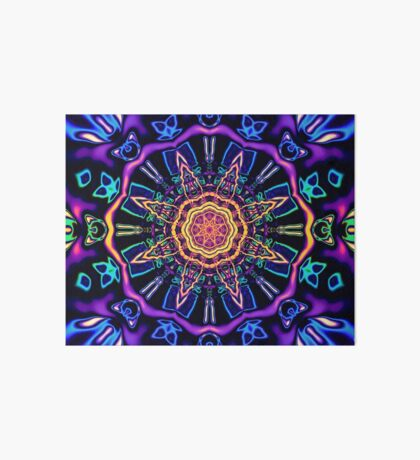 """Return to Awe"" - Psychedelic Abstract Mandala  Art Board"