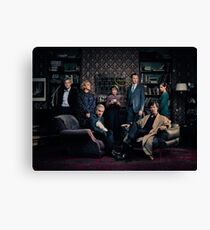 Sherlock Cast - Season 4 Canvas Print