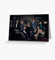 Sherlock Cast - Season 4 Greeting Card