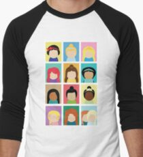 Princess Inspired Men's Baseball ¾ T-Shirt