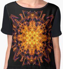 Energetic Geometry - Abstract Solar Power Symbol Women's Chiffon Top
