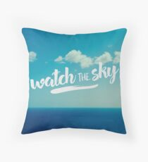 watch the sky Throw Pillow
