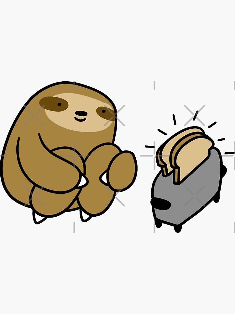 Sloth Making Toast by SaradaBoru