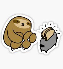 Sloth Making Toast Sticker