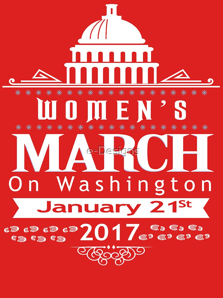 Million Women's March on Washington 2017 Redbubble T-Shirts | Women's Fitted Scoop T-Shirt