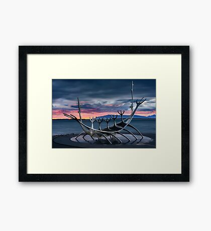 The Sun Voyage Framed Print