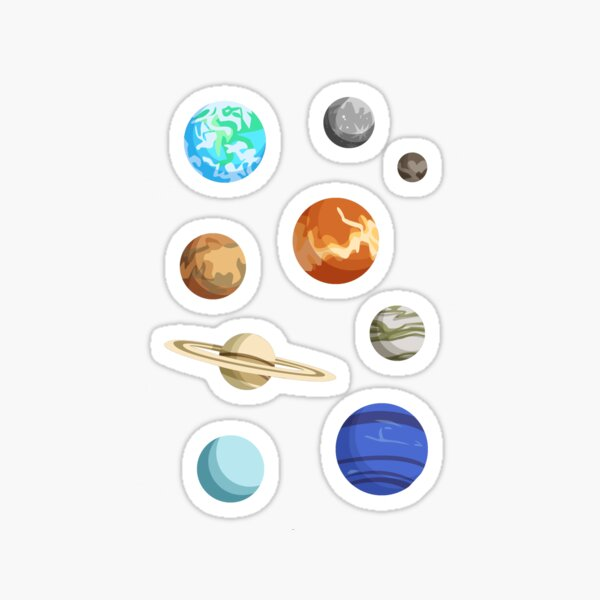 Planet Stickers Sticker
