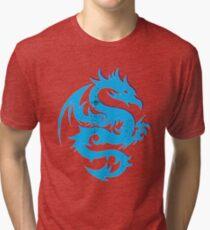 Blue dragon star  Tri-blend T-Shirt