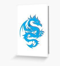 Blue dragon star  Greeting Card