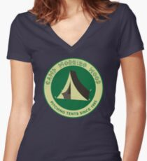 Camp Morning Wood Women's Fitted V-Neck T-Shirt