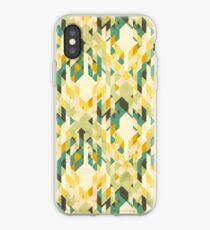 des-integrated tartan pattern iPhone Case