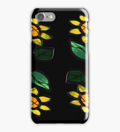 4 Flowers - Stained Glass -  iPhone Case/Skin