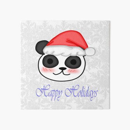 Kawaii Christmas Panda Art Board Print