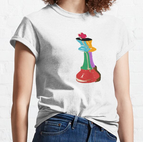 Colorful Chess King Piece Classic T-Shirt