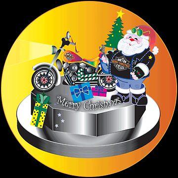 Motorcycle Santa by trash