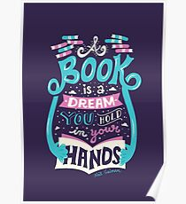 Book is a dream Poster