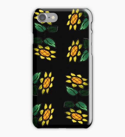 16 Flowers - Stained Glass -  iPhone Case/Skin
