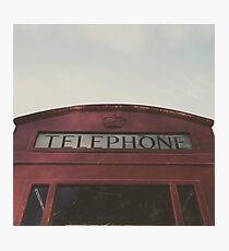 Telephone Booth Photographic Print