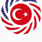 Turkish American Multinational Patriot Flag Series by Carbon-Fibre Media