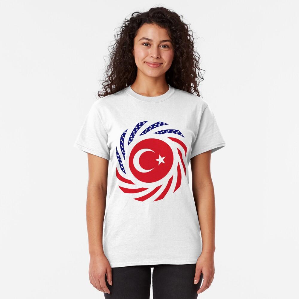 Turkish American Multinational Patriot Flag Series Classic T-Shirt