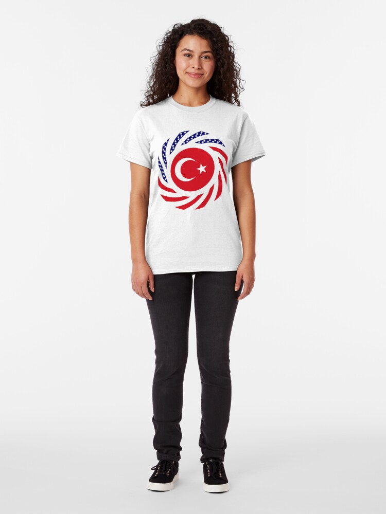 Alternate view of Turkish American Multinational Patriot Flag Series Classic T-Shirt