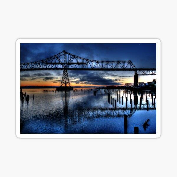 Astoria Bridge connecting Oregon to Washington (USA) Sticker