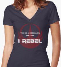 I Rebel Women's Fitted V-Neck T-Shirt