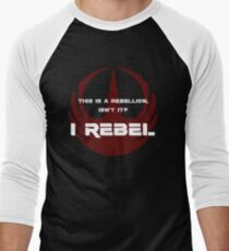 I Rebel Men's Baseball ¾ T-Shirt