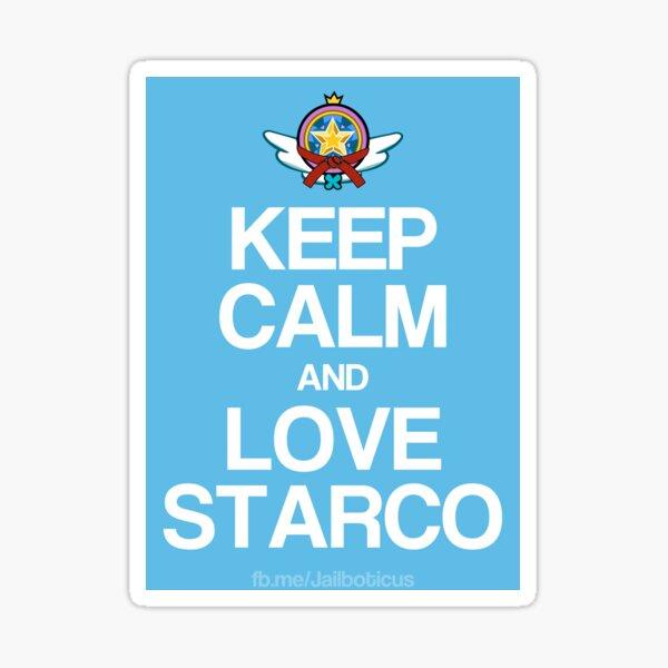 Keep Calm and Love Starco Sticker