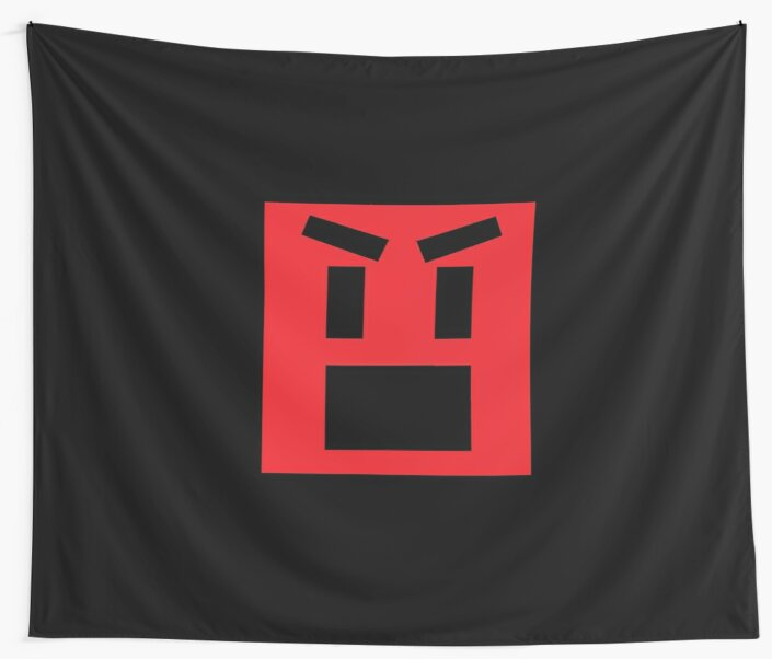 Mad Face Emoji Wall Tapestries By Xtothee Redbubble