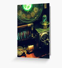 Steampunk Time Machine 1.0 Greeting Card
