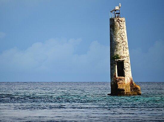 Abandoned Lighthouse in Palau by Randy Richards