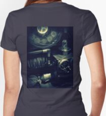 Steampunk Time Machine 1.1 Women's Fitted V-Neck T-Shirt
