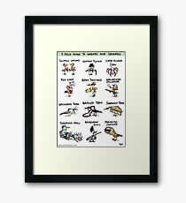 A Field Guide to Waders and Seabirds Framed Print