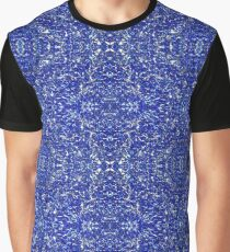 Macro Blue Glitter Patterns Graphic T-Shirt