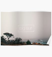 A misty day in Big Sur Poster