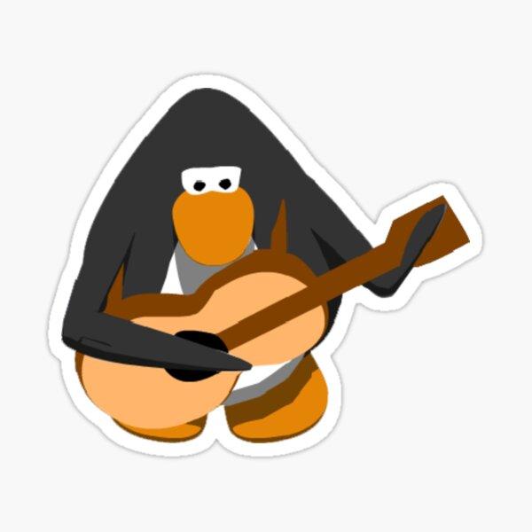 Club penguin guitar Sticker