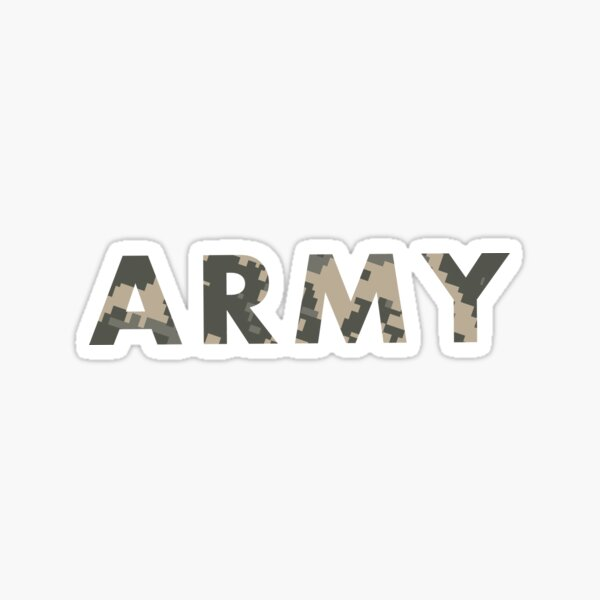 Army Camo Sticker