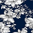 Blue Floral Pattern by sullat04
