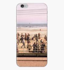 Along the beach, Atlantic City, NJ 1905 Colorized iPhone Case