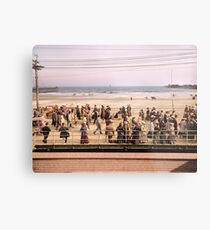 Along the beach, Atlantic City, NJ 1905 Colorized Metal Print