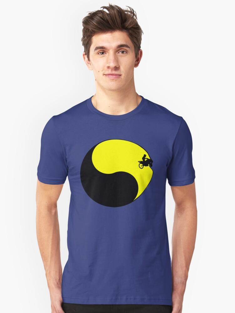 Motor Cross Yin Yang Unisex T-Shirt Front