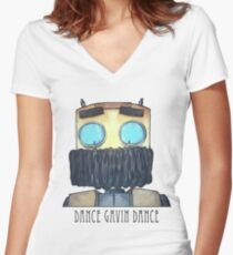 Dance Gavin Dance Character (W/ Text) Women's Fitted V-Neck T-Shirt