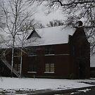 First Presbyterian Church In Snow by WildestArt