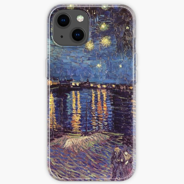 Starry Night over the Rhone, Vincent van Gogh. iPhone Soft Case