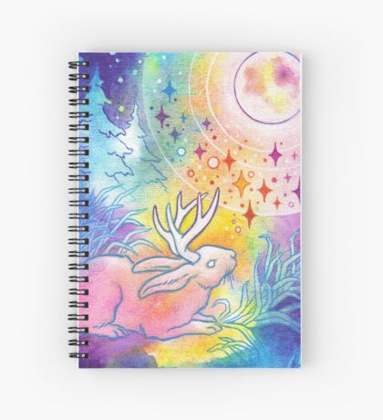 Jackalope of the Night Spiral Notebook
