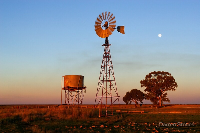 Quot Evening Glow Narrandera Quot By Darren Stones Redbubble