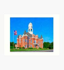 Macon County Courthouse - Oglethorpe Georgia Art Print