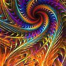 """Pinwheel Dreams"" -  Abstract Spiral Fractal Art by Leah McNeir"