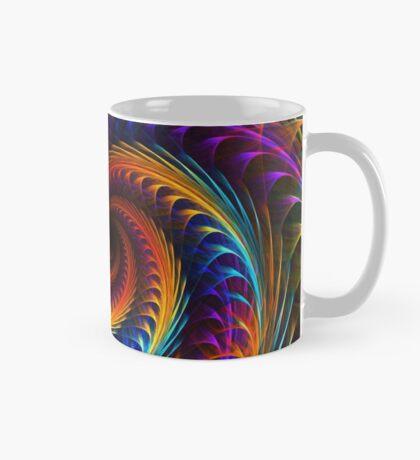"""""""Pinwheel Dreams"""" -  Abstract Spiral Fractal Art Mug"""